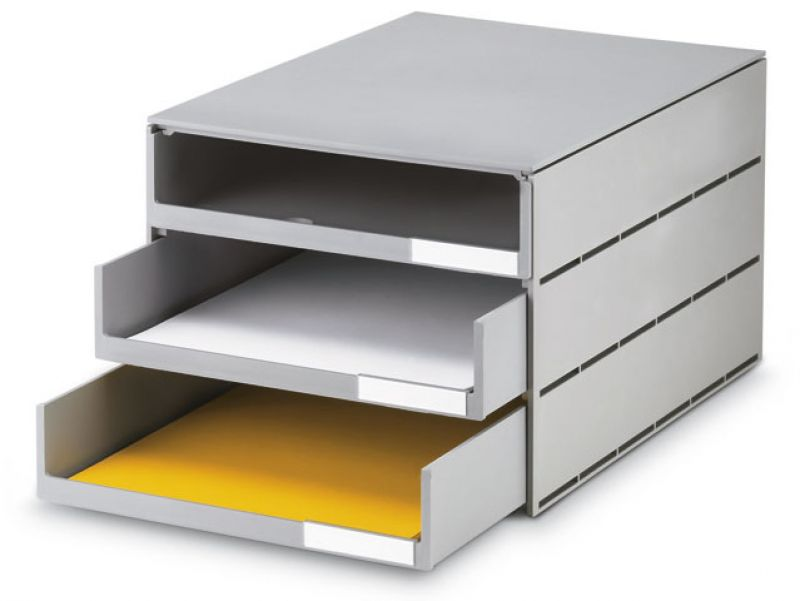 Bürobedarf ablagesysteme  Ablagesystem styroval 3 Schub. offen grau Ablagen Ablagebox, € 3
