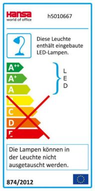 LED Tischleuchte Vario Plus anthrazit