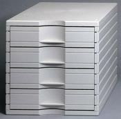 Ablagesysteme styrotop 4 Schubladen weiss Ablagebox Ablagefach