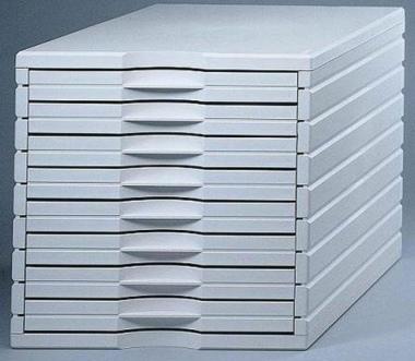 Ablagesystem styrotop 8 Schubladen weiss Ablagebox Ablagefach