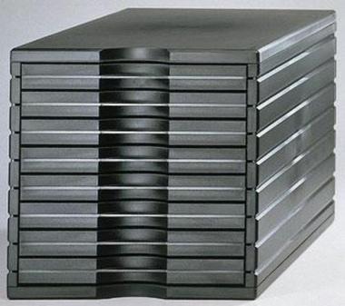 Ablagesystem styrotop 8 Schubladen schwarz Ablagebox Ablagefach