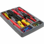 Werkzeugset Werkzeug Set 115 teilig Elektro Autosicherungen Kabelbinder