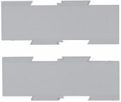 Erweiterungsplatten-Set für HANSA Schwenkarm, lichtgrau
