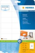 HERMA 5053 Etiketten Premium A4, weiß 66x33,8 mm Papier matt