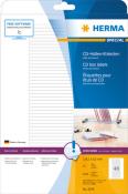 HERMA 5078 Etiketten für CD-Box A4 weiß 114,3x5,5 mm Papier matt