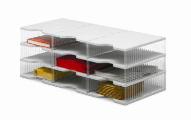 Ablagesysteme styrobig styropost Trio Tower 9 Fächer Ablagebox Ablagefach