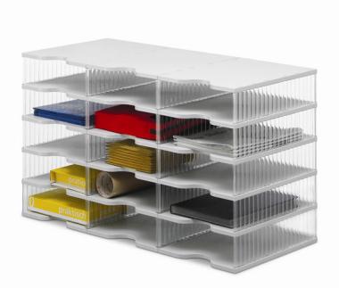 Ablagesysteme styrobig styropost Trio Tower 15 Fächer Ablagebox Ablagefach