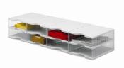 Ablagesysteme styrobig styropost Quadro Tower 8 Fächer Ablagebox Ablagefach