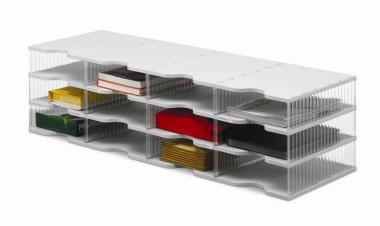 Ablagesysteme styrobig styropost Quadro Tower 12 Fächer Ablagebox Ablagefach