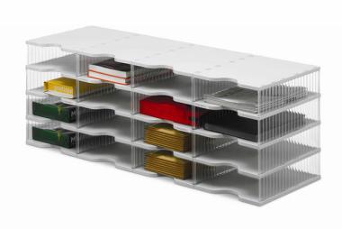 Ablagesysteme styrobig styropost Quadro Tower 16 Fächer Ablagebox Ablagefach