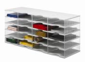 Ablagesysteme styrobig styropost Quadro Tower 20 Fächer Ablagebox Ablagefach