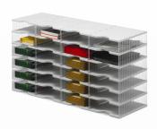 Ablagesysteme styrobig styropost Quadro Tower 24 Fächer Ablagebox Ablagefach