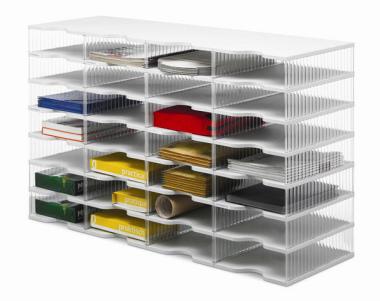 Ablagesysteme styrobig styropost Quadro Tower 28 Fächer Ablagebox Ablagefach
