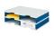 Ablagesysteme strodoc duo 4 Fächer blau grau Ablagebox Ablagefach
