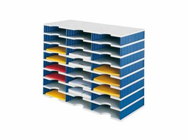 Ablage Ablagefach Ablagesystem Styrodoc Trio 24 Sortier Facher Blau