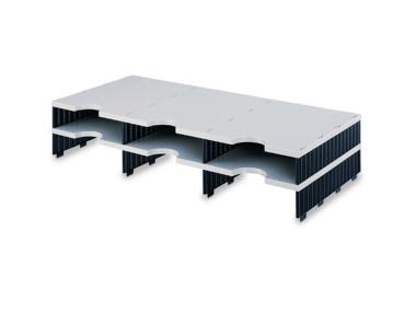 Erweiterungset für styrodoc trio Aufbaueinheit mit 6 Fächer grau-schwarz