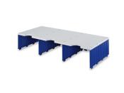 Erweiterungset für styrodoc trio Aufbaueinheit JUMBO mit 3 Fächer grau-blau