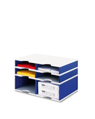 Ablage Ablagesystem styrodoc duo 6 Sortier Fächer Kombi blau
