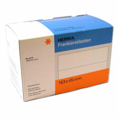 Frankieretiketten 1.000 Stk 45x163 mm Herma 4319