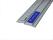 Schneidlineal Länge 100cm Schneidlineal Lineal eloxiert Alu rutschfest