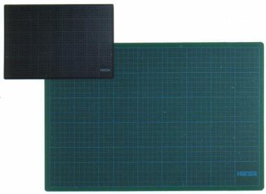 Schneidunterlage 45x30 cm grün schwarz Schneidematte Messer