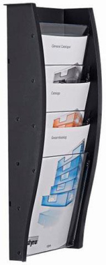 Wandprospekthalter styrodisplay DIN A4 anthrazit
