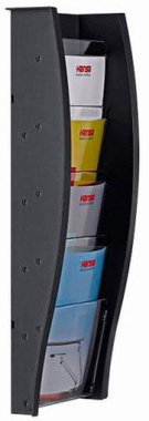 Wandprospekthalter styrodisplay DIN A5 anthrazit