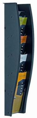 Wandprospekthalter styrodisplay anthrazit DIN A6