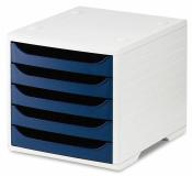Ablagesysteme styrobox grau blau Ablagebox Ablagefach