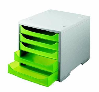 Ablagesysteme styrobox grau grün Ablagebox Ablagefach