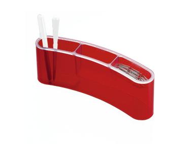 Stifteköcher styropen  rot transparent