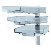 Schwenkflügler, lichtgrau, mit 3 transparenten Schalen