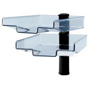 Schwenkflügler, schwarz, mit 2 transparenten Schalen