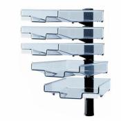 Schwenkflügler, schwarz, mit 5 transparenten Schalen