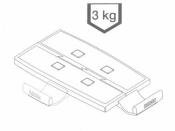 Schwenkarm TAS 5020, Tragplatte 18,5x26, lichtgrau