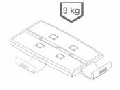 Schwenkarm TAS 5020, Tragplatte 18,5x26, schwarz