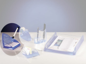 Zettelbox mit Stiftehalter Acryl Line transparent