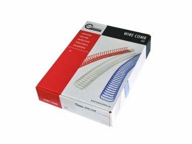Drahtbinderücken RECOsystems Teilung 3:1 rot ø 16 mm (5/8 Zoll) für ca. 130 Blatt - 50 Stück