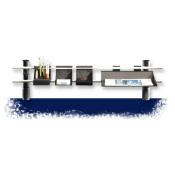 Schreibtischset Top-Rail 100 cm, schwarz