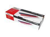 Plastikbinderücken 21 Ringe rund weiss ø 8 mm für ca. 50 Blatt - 100 Stück