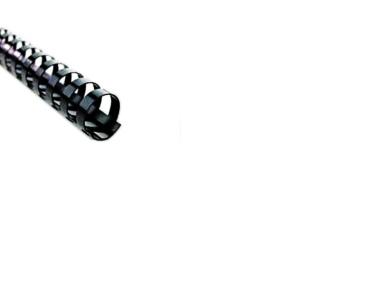 Plastikbinderücken 21 Ringe rund schwarz ø 14 mm für ca. 110 Blatt - 100 Stück