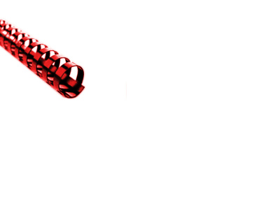 Plastikbinderücken 21 Ringe rund rot ø 19 mm für ca.160 Blatt - 50 Stück