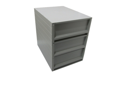 Ablagebox styro Typ 16005 individuell 3 Fächer 94 mm A4 grau