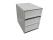 Ablagebox styro Typ 16005 individuell 3 Fächer 94 mm A4 grau weiss