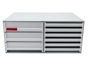 Ablagebox styro Typ 16003/16000, grau weiss