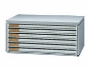 Ablagebox styro Typ 16006 A3 grau weiss