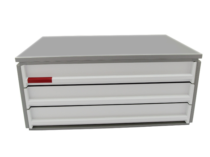 ablagebox styro typ 16007 a3 grau weiss 150 13. Black Bedroom Furniture Sets. Home Design Ideas