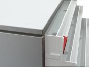 Ablagebox styro Typ 16007  A3 grau weiss