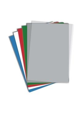 RECOsystems Deckblätter 50 Stück DIN A4 Stärke 0,7 mm transparent matt Karton Rückwände