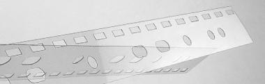 Abheftstreifen 100 Stk. 3x8 mm US-Teilung transparent Plastikbindung vorgestanzt